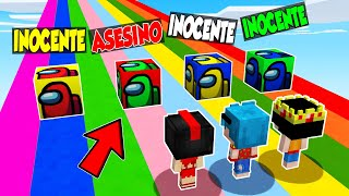 ¿Qué LUCKY BLOCKS es el ASESINO? 🔪😱 AMONG US en MINECRAFT