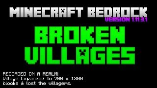 BROKEN VILLAGES BUGS | Minecraft Bedrock Edition (MCBE) | NEEDS FIX URGENTLY