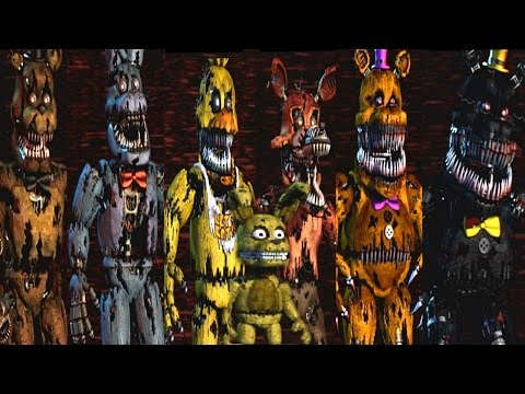 Five Nights At Freddy's 4 All Animatronics | Secret Nightmare Animatronic