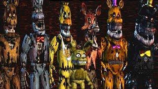 Five Nights at Freddy s 4 All Animatronics Secret Nightmare Animatronic