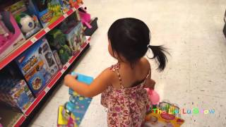 Cute 2 year old baby girl hunting Kids toys