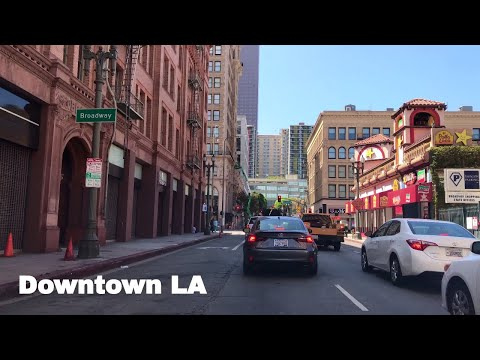 🔴  Downtown LA Driving Tour 4K