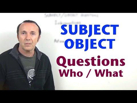 Subject / Object questions. Inglés para hablantes de español. Tutorial