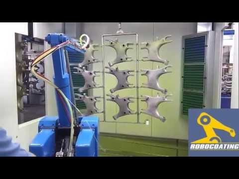Robotlu Elektrostatik Yaş Boyama Tesisi Youtube