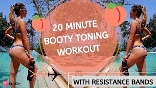 20 Minute Booty Toning Workout with Resistance Bands (Beginner and Advanced Options)