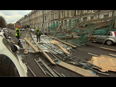 Weather Events 2019 - Storms And Damage (UK) - BBC & ITV London News - 10th March 2019
