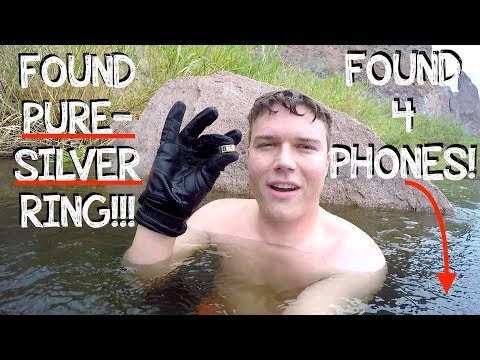 River Treasure  I Found a HUGE Silver Ring, a Working iPhone 7 iPhone Returned to Owner!!!