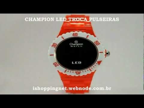 2599827b9ab Champion Led Troca Pulseiras By Ishoppingnet - YouTube