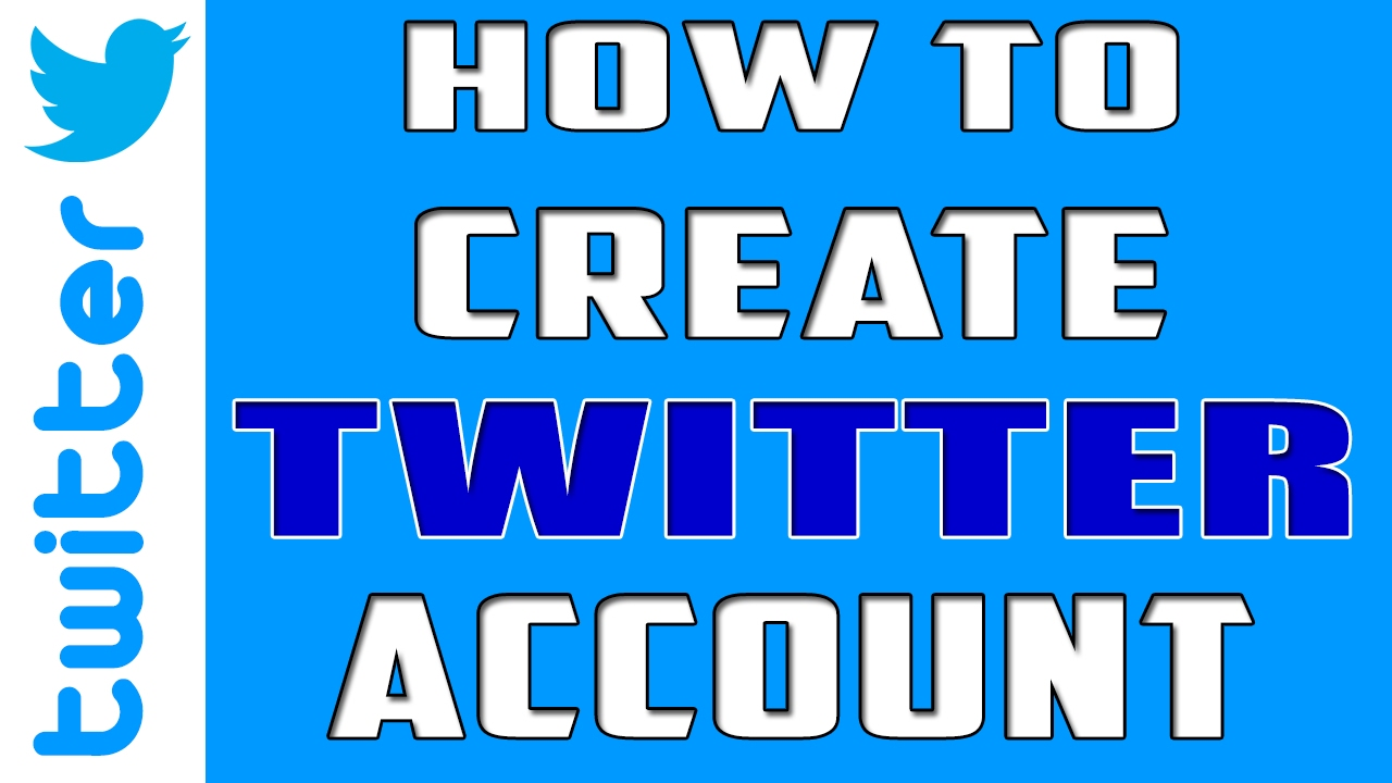 How to create a twitter account youtube — photo 1