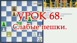 Слабые пешки - Урок 68 для 3 разряда - Шахматы.