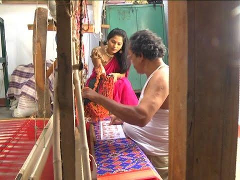 Puttapaka Double Ikkat & Rajkot Fabrics Weaving - Krishnamma Sogasulu || Pushkaralu Special