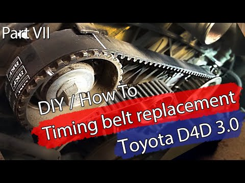 DIY / How To: Timing belt replacement -Toyota 3.0 D4D – 1KD-FTV – Bildilla  2006 Land Cruiser LC120