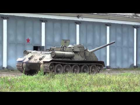 SU-100 Soviet tank destroyer