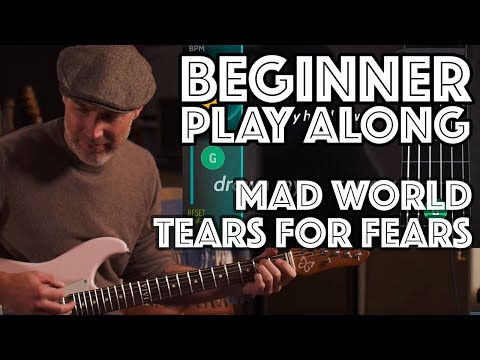 Mad World Beginner Play Along using Justin's Beginner Song Course App Guitaraoke