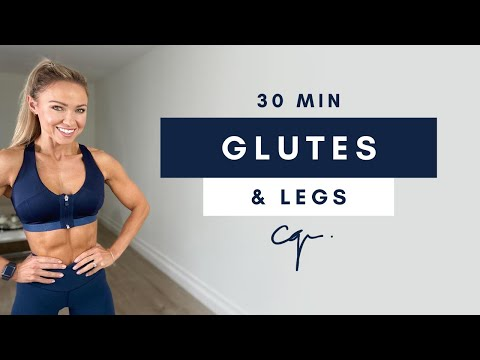 30 Min GLUTES & LEG WORKOUT at Home | Ankle Weights Optional