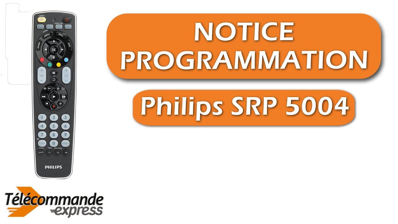 programmer une telecommande tv universelle philips srp 5004