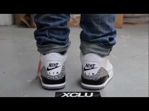 c0613e3f313a57 Air Jordan 3 Retro 88s - White Cement - On-feet Video at Exclucity