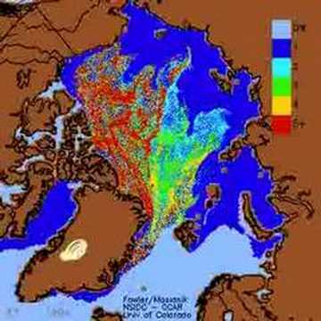 Arctic Ice melting from Global Warming