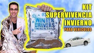 Probando KIT DE SUPERVIVENCIA INVIERNO para VEHÍCULOS