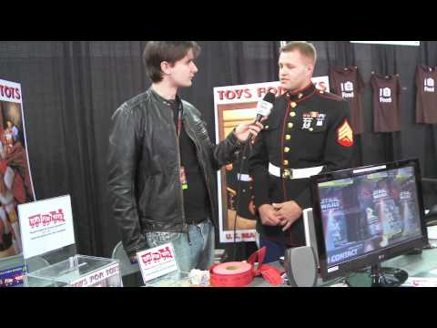 Interview with Toys for Tots Marine at Comic Con