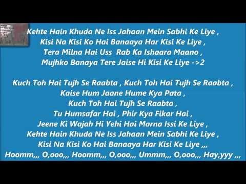 Raabta  Karaoke With Lyrics   Agent Vinod