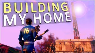 SETTING UP MY FIRST BASE CAMP! - Fallout 76 Solo Gameplay #2