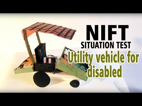 utility vehicle for disabled (NIFT SITUATION TEST)