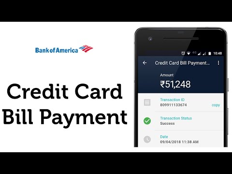 How do you pay bank of america credit card bill online