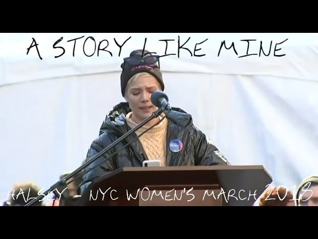 """""""A Story Like Mine"""" // Halsey speaks at the 2018 Women's March in NYC // 20th January '18"""