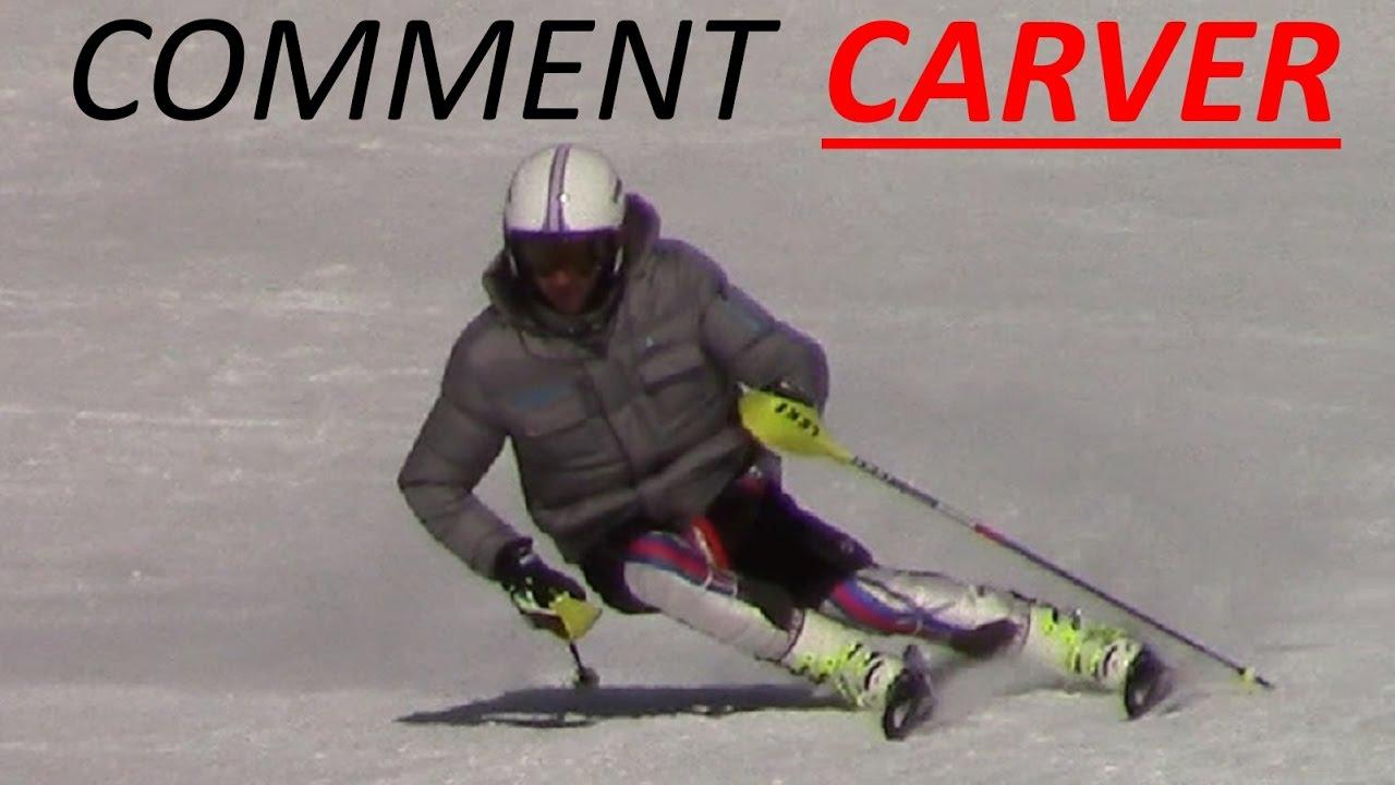 Comment faire un VIRAGE CARVING / coupé en ski ! Explications du SKI CARVING par Jérémy Nadalutti