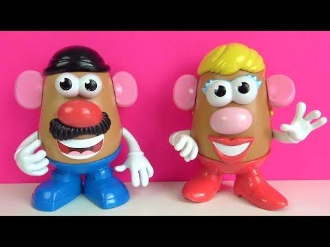 Patates Adam Şarkısı Bay Ve Bayan Patates Kafalar Oyuncakları Ile Mr. Potato Eğitici Çocuk Şarkısı
