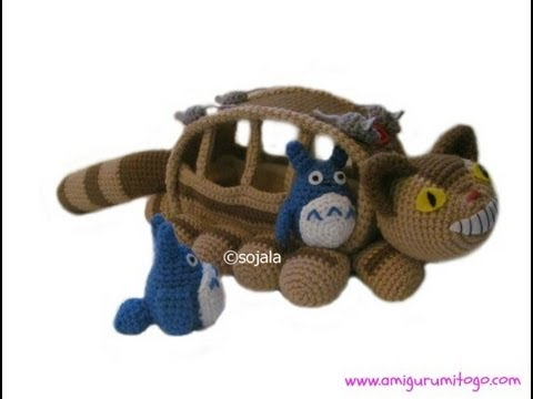 Totoro Catbus Amigurumi : How To Crochet A Cat Bus Free Pattern - YouTube
