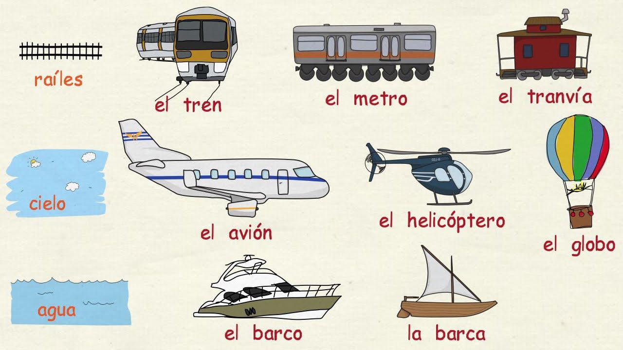 Aprender espa ol los medios de transporte nivel b sico - Nombres clasicos espanoles ...