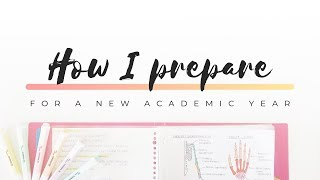 How I prepare for a new academic year - Back to school 2019 | studytee