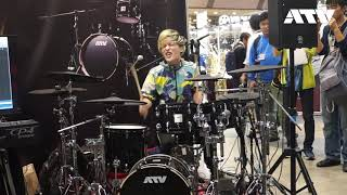 """aDrums Live by AtsuyuK! """"302"""" .(dot)any in Japan Music Instrument Fair 2018"""