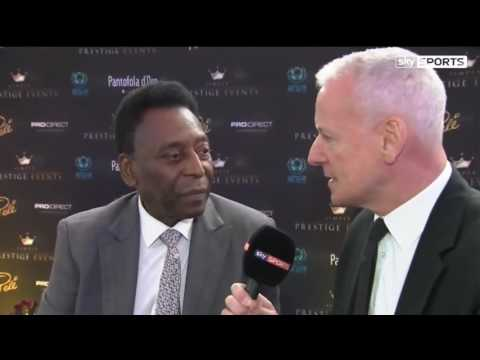 Sky Sports interviewing Pelé on his views of the Euros at our event in June