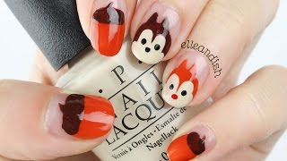 EASY Disney Chip N Dale Nails for Fall!
