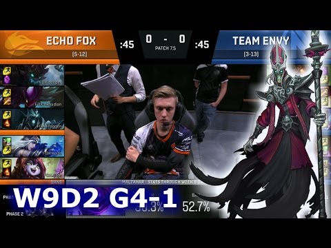 Echo Fox vs Team EnVyUs Game 1 | S7 NA LCS Spring 2017 Week 9 Day 2 | FOX vs NV G1 W9D2