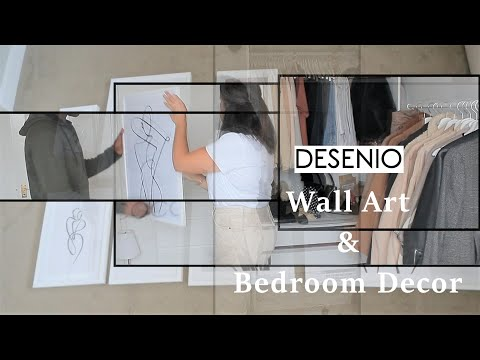 AD | BEDROOM DECOR WITH DESENIO | WALL ART & FINISHING TOUCHES