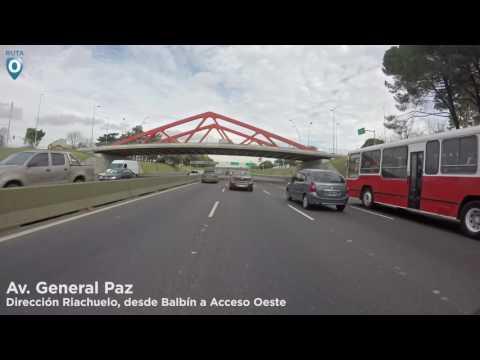 Av. General Paz: Desde Balbin a Acceso Oeste - Timelapse 4K