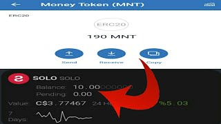 190 MNT Token Received Exchange Listed | $4 dollar 10 Solo Coin Instant Received After Kyc Airdrop