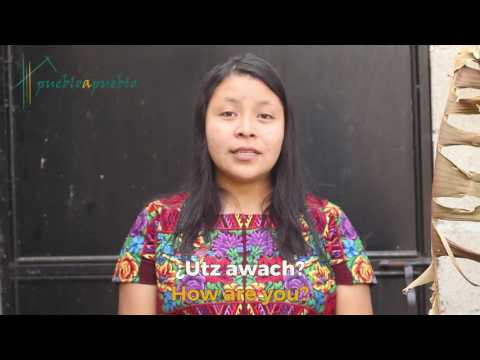 """Learn Mayan Tz'utujil: """"How are you?"""""""