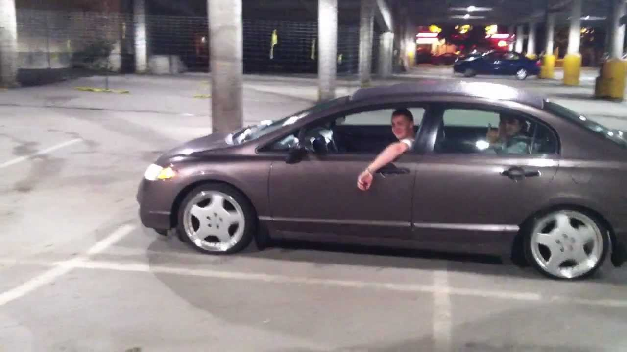 Honda Civic Tires >> Civic 8th gen with Mercedes 18x9 wheels and 215/35R18 stretched tires - YouTube