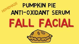 Diy Pumpkin Pie Anti-oxidant Serum:  Fabulous Fall Facial Brings Fantastic Changes