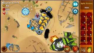Bloons Monkey City Mobile - MOAB Graveyard Special Mission!