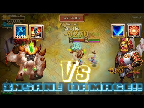 Sasquatch Vs Scorch Ronin AMAZING! Can He KILLED Ronin? Castle Clash