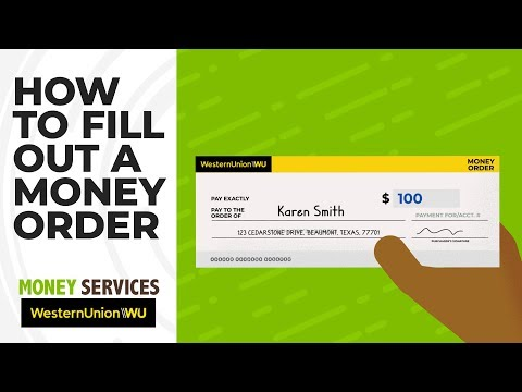 How To Fill Out A Money Order With Money Services