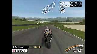 hot lap Dani Pedrosa in muggelo motogp 08 ps2