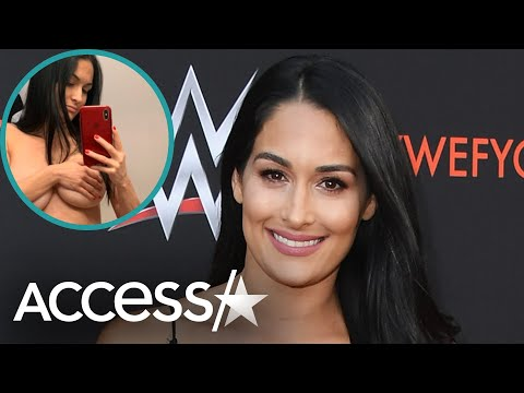 Nikki Bella Shows Off 'Huge' Pregnancy Boobs & Gray Hairs: I'm 'Freaking Out'