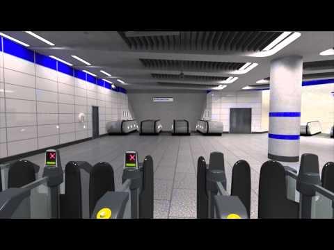 Tottenham Court Road station redevelopment for 2016 - virtual tour walk-through - Tube improvements